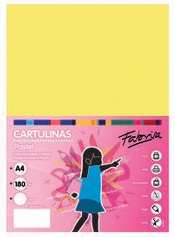 PAQ / 25 CARTULINA 180G 50X65 AMARILLO