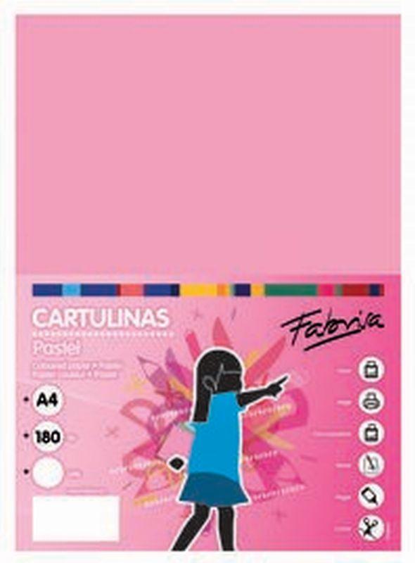 PAQ / 25 CARTULINA 180G 50X65 ROSA