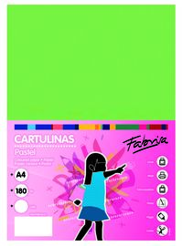 PAQ / 25 CARTULINA 180G 50X65 VERDE