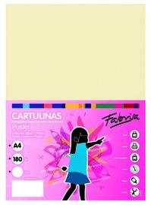 PAQ / 25 CARTULINA 180G 50X65 CREMA
