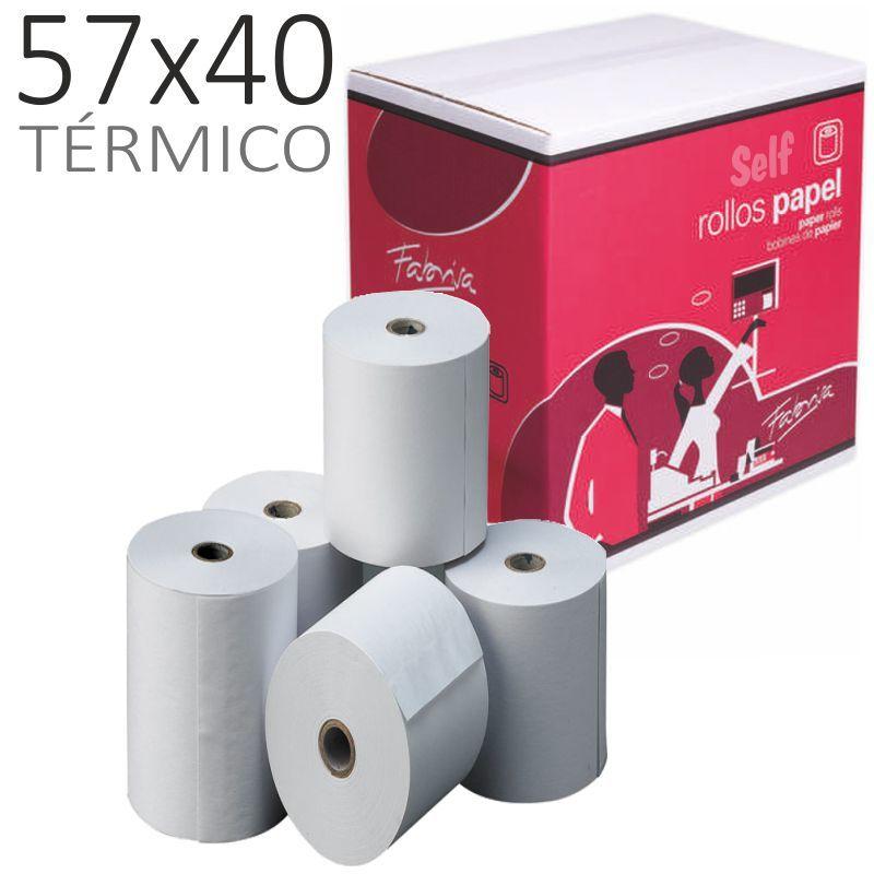 PAQ / 10 ROLLO TERMICO 57x40