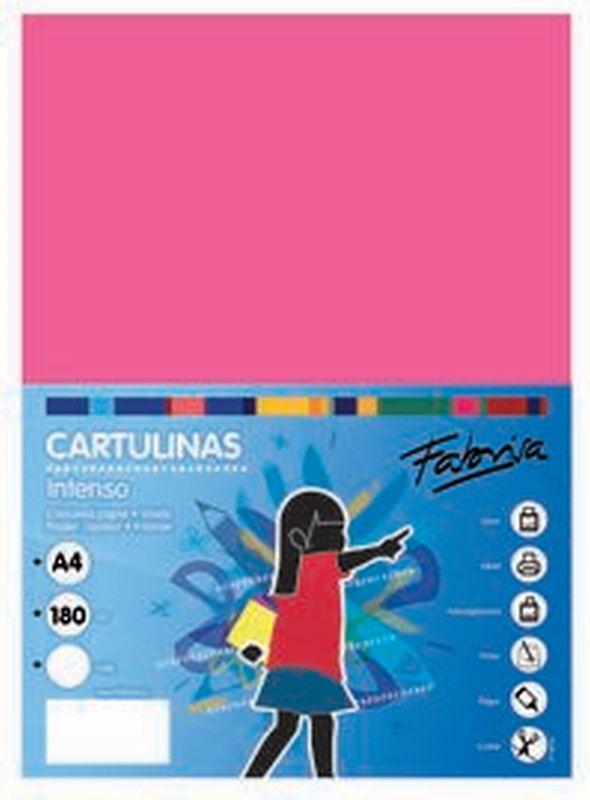 PAQ / 25 CARTULINA 180G 50X65 FUCSIA