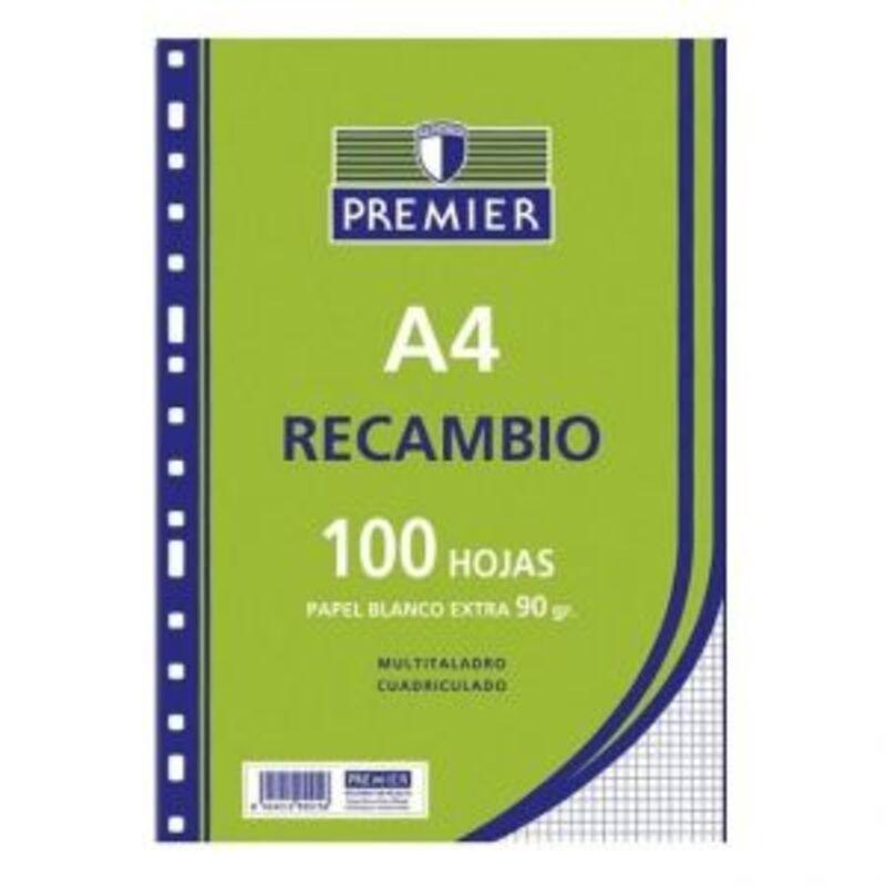RECAMBIO PREMIER 100H A4 90gr HORIZONTAL