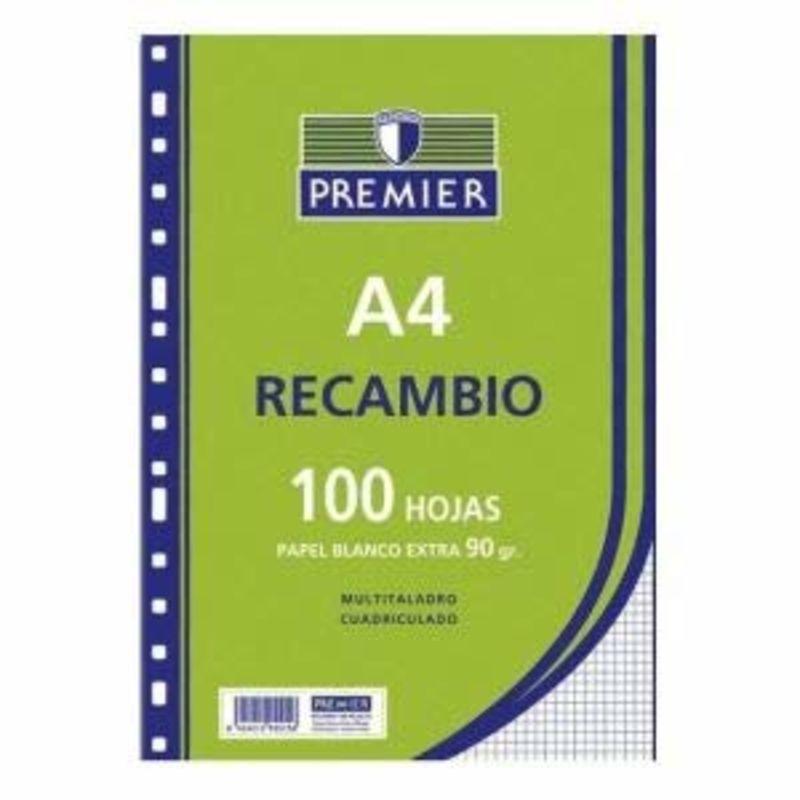 RECAMBIO PREMIER 100H A4 90GR PAUTA 2, 5