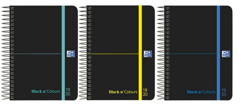 19 / 20 * AGENDA ESCOLAR 8º D / P BLACK N`COLOURS T. PLASTICO CON GOMA