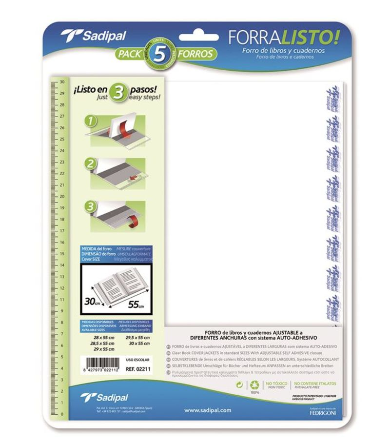PAQ / 5 FORRO FORRALISTO 29, 5x55 R: 02210