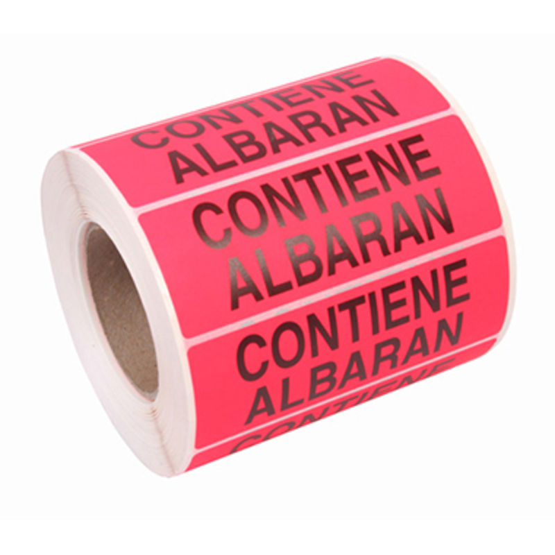 R / 200 Etiquetas Contiene Albaran 100x40mm -