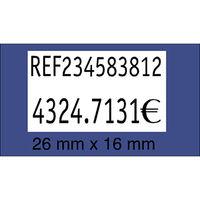 PAQ / 8+2 R / 1000 ETIQ. 26x16 BLANCA REMOV. R: 1530017