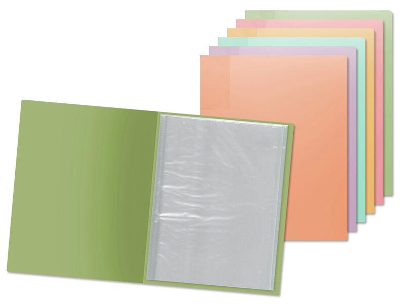 Carpeta A4 20 Fundas Polipropileno Pastel -