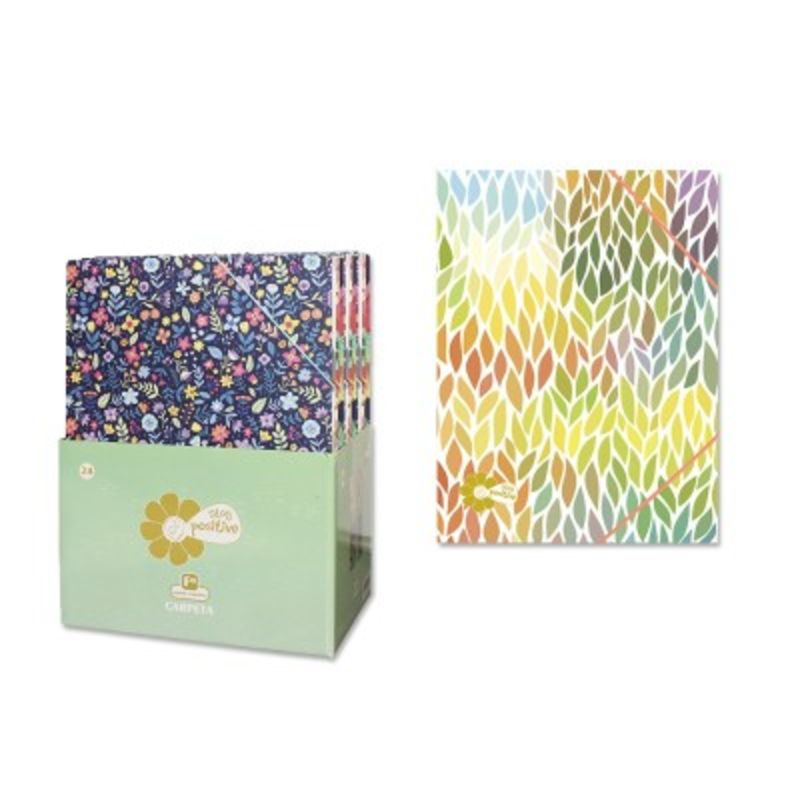 CARPETA CARTON Fº CON GOMAS STAY POSITIVE R: 327045
