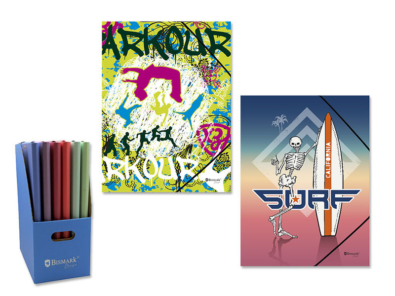 URBAN SPORTS * CARPETA FOLIO CON GOMAS Y SOLAPAS