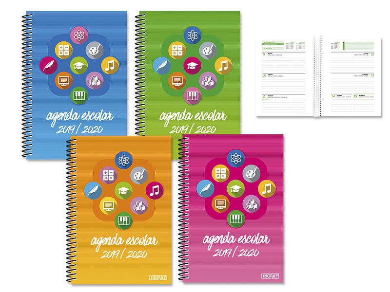 19 / 20 * Agenda Escolar Iconos 4º S / V Polipropileno -