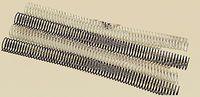 C / 100 ESPIRAL METALICA 5: 1 GBC 20MM NEGRO
