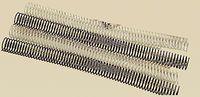 C / 50 ESPIRAL METALICA 5: 1 GBC 28MM NEGRO