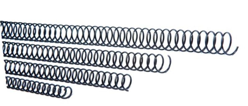 C / 20 ESPIRAL METALICA 5: 1 GBC 48MM NEGRO