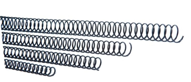 C / 20 ESPIRAL METALICA 5: 1 GBC 50MM NEGRO