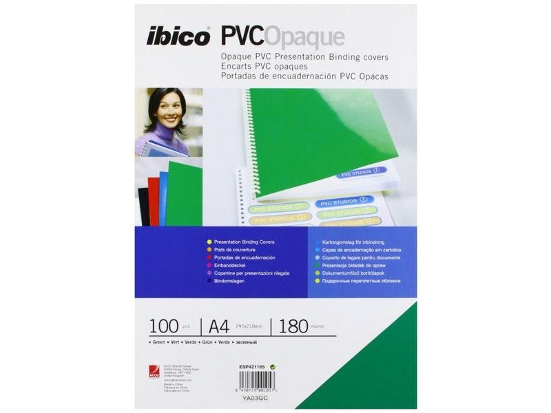 C / 100 PORTADA PVC OPACO GBC A4 180 MICRAS AZUL