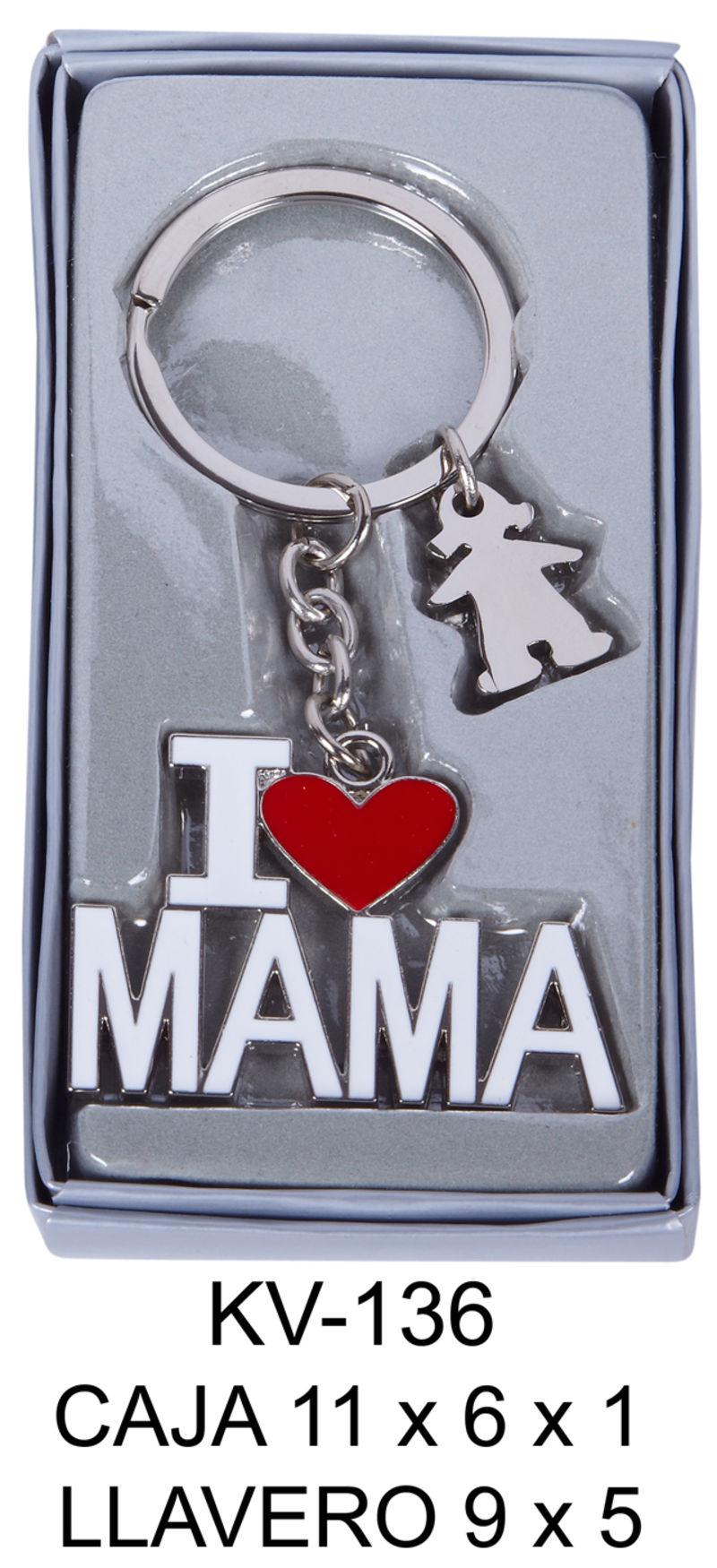 CAJA CON LLAVERO I LOVE YOU MAMA