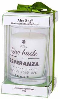 """Vela """"huele A Esperanza. .. """" Orange R: Dh-005 -"""