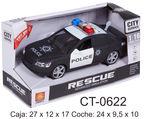COCHE ESCALA 1: 16 POLICIA NEGRO CON LUZ Y SONIDO R: CT0622