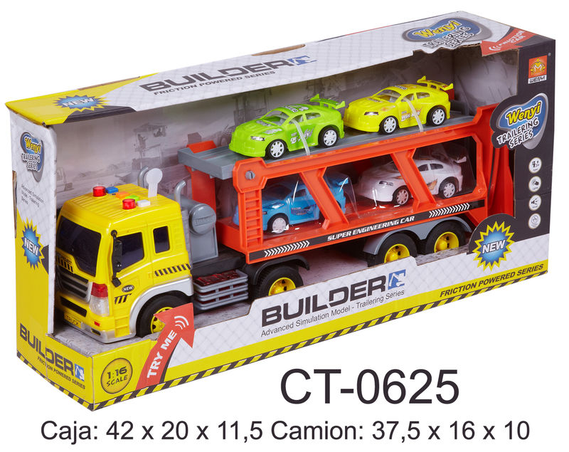 Camion Porta Coches Escala 1: 16 R: Ct0625 -