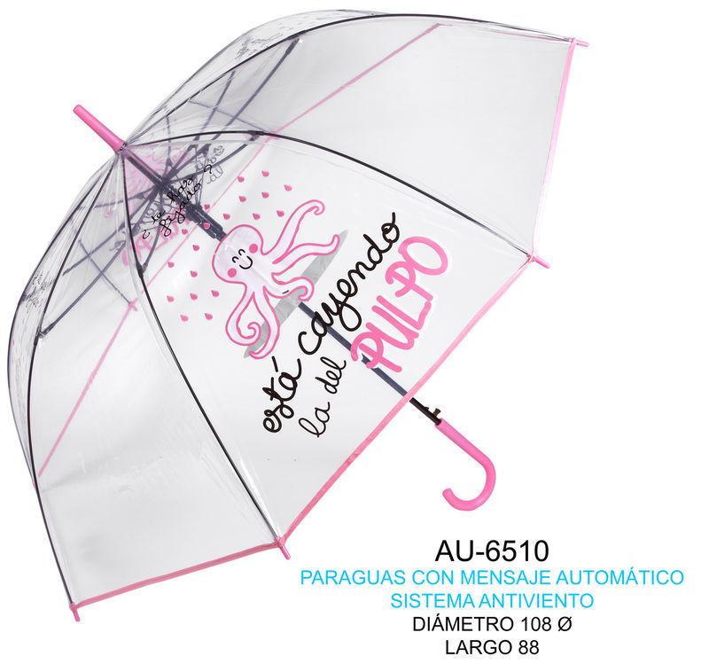 Paraguas Con Mensaje Esta Cayendo La Del Pulpo -
