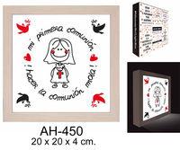 """CAJA LUZ """"HACER LA COMUNION MOLA GIRL"""" R: AH-450"""
