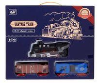 Maquina Tren Con 2 Vagones Luz Y Sonido R: Lb-1019 -
