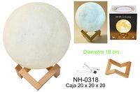 LAMPARA LUZ 18cm MOON LIGHT 3 COL. - USB R: NH-0318