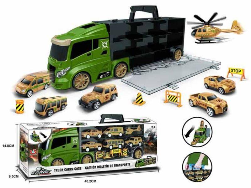 Camion Porta Vehiculos Verde Pequeño -