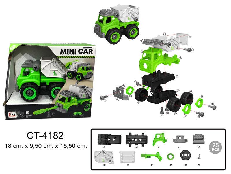 Kit De Montaje Camion Basurero Verde -