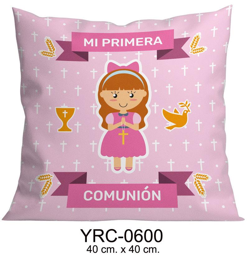 COJIN 40X40 MI PRIMERA COMUNION NIÑA