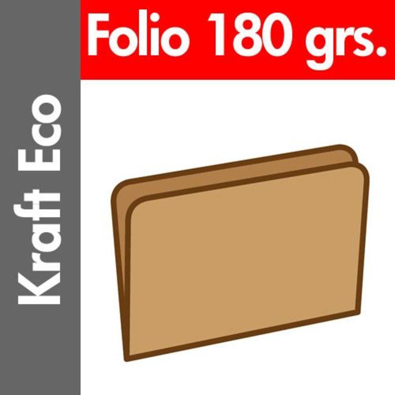 PAQ / 50 SUBCARPETAS Fº KRAFT ECO 180gr
