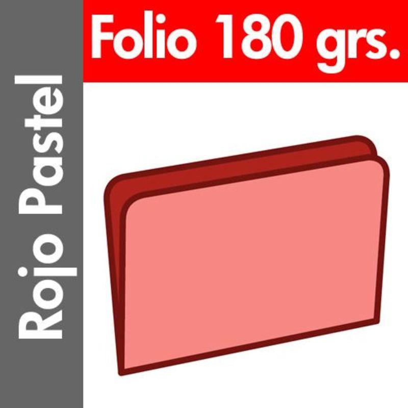 C / 50 SUBCARPETA PASTEL 180 GR / M² FOLIO ROJO