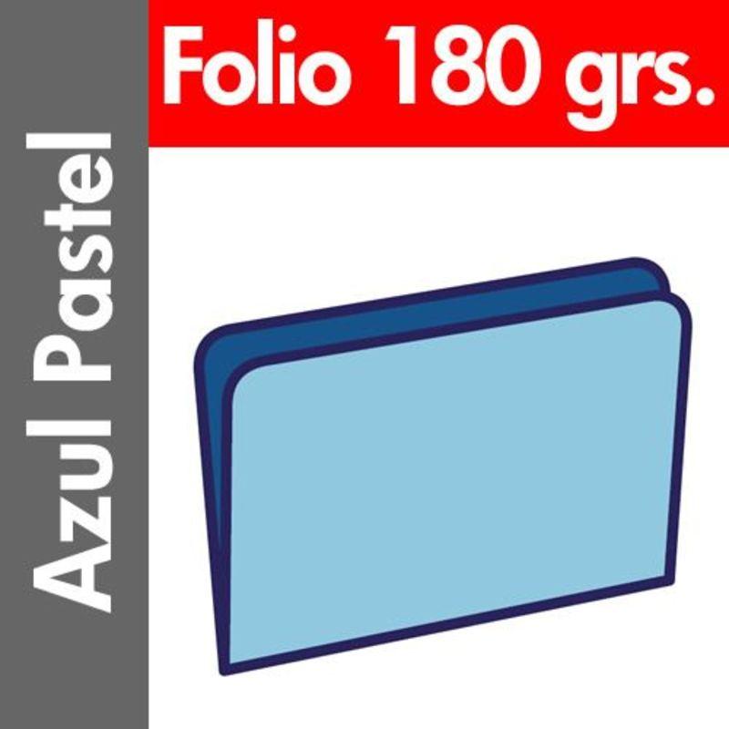 C / 50 Subcarpeta Pastel 180 Gr / M² Folio Azul -