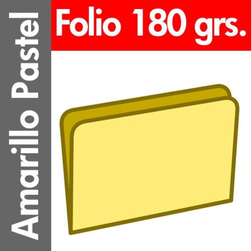 PAQ / 50 SUBCARPETAS Fº PASTEL 180gr AMARILLO