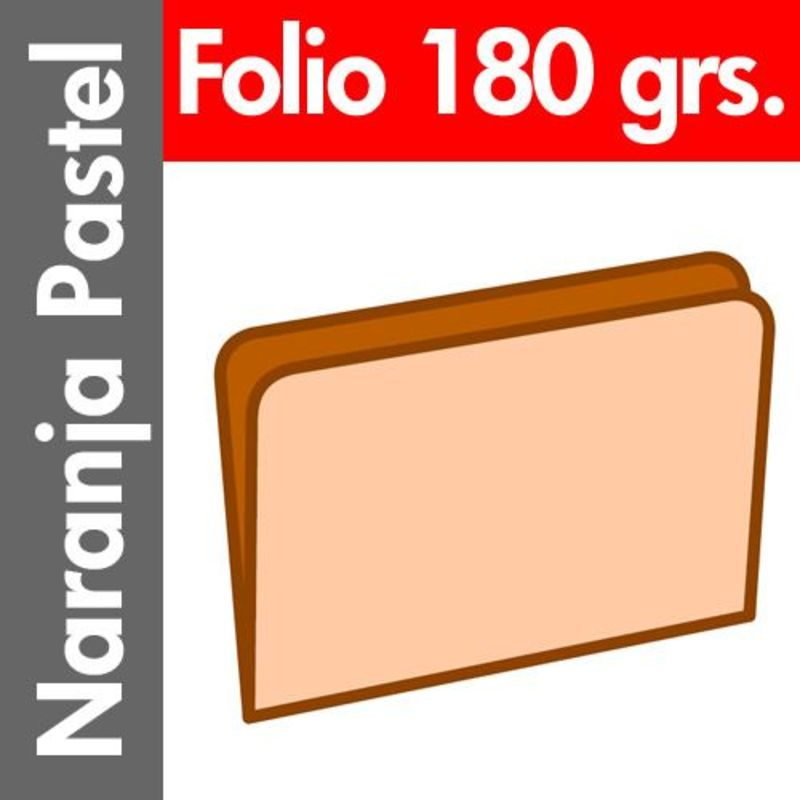 C / 50 SUBCARPETA PASTEL 180 GR / M² FOLIO NARANJA