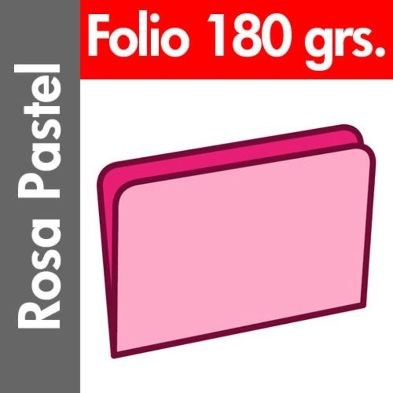 C / 50 SUBCARPETA PASTEL 180 GR / M² FOLIO ROSA