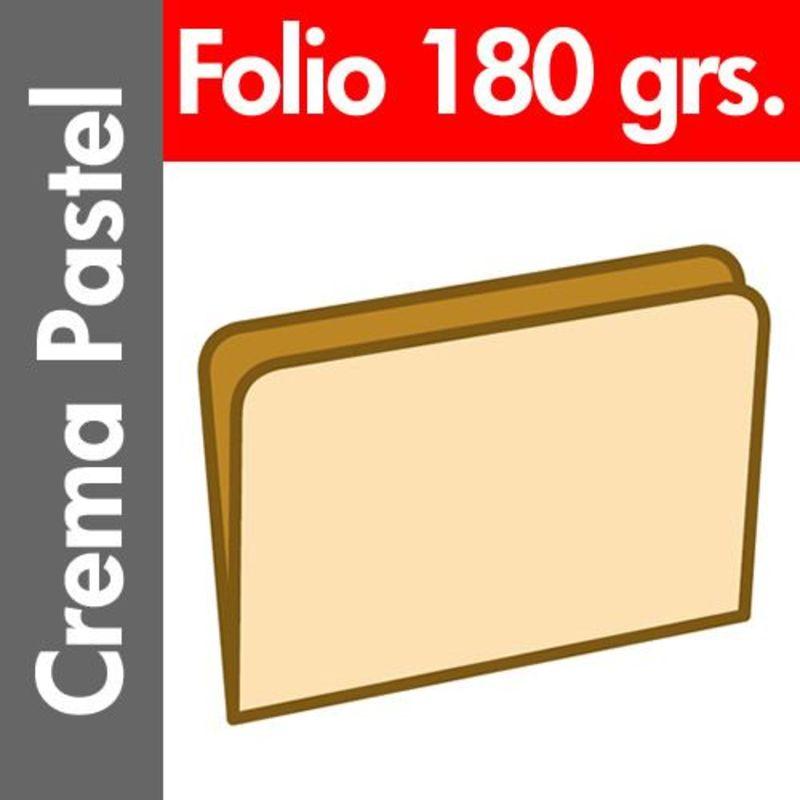 C / 50 SUBCARPETA PASTEL 180 GR / M² FOLIO CREMA