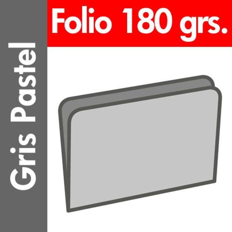 PAQ / 50 SUBCARPETAS Fº PASTEL 180gr GRIS