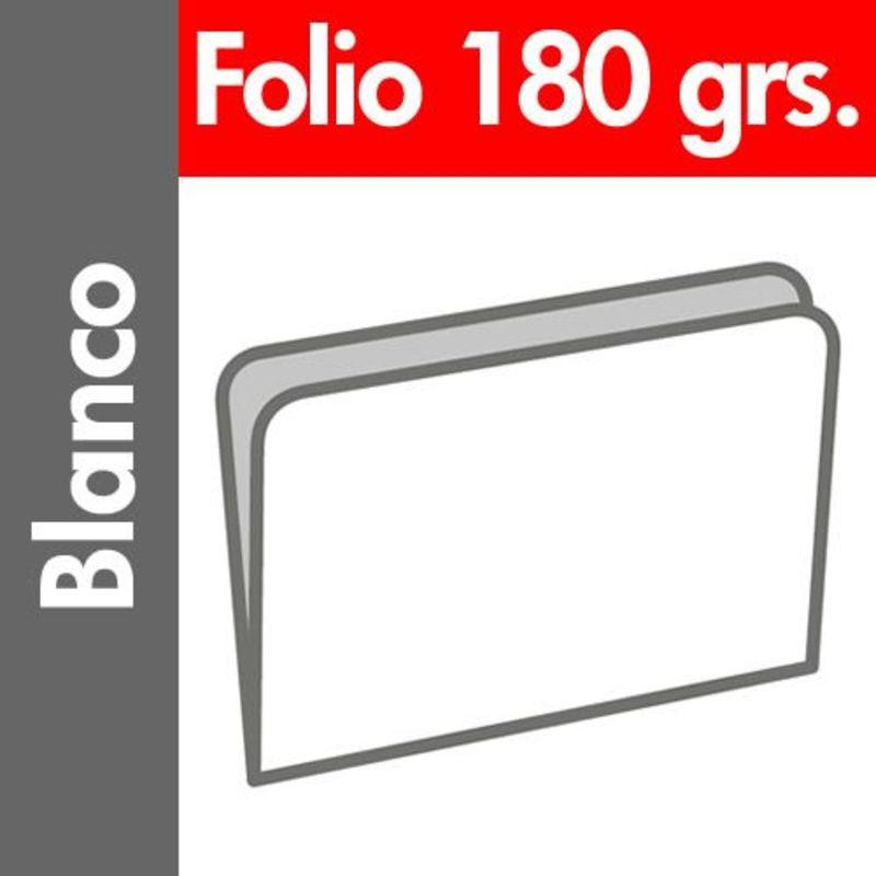 PAQ / 50 SUBCARPETAS Fº PASTEL 180gr BLANCO
