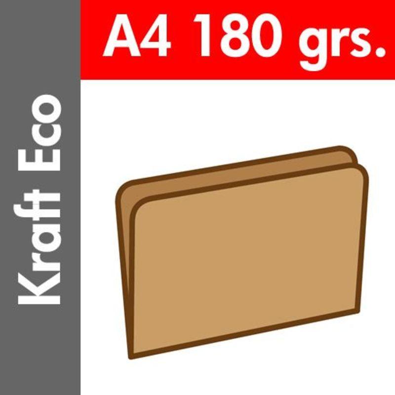 Paq / 50 Subcarpetas A4 Kraft Eco 180gr -