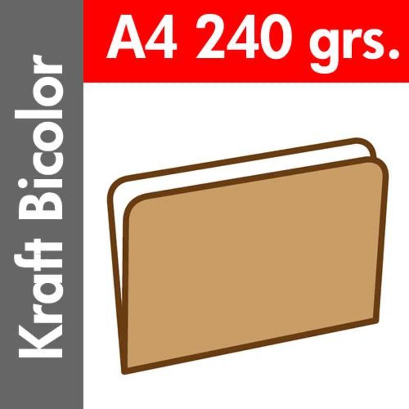 C / 50 SUBCARPETA KRAFT BICOLOR 240 GR / M² DIN A4