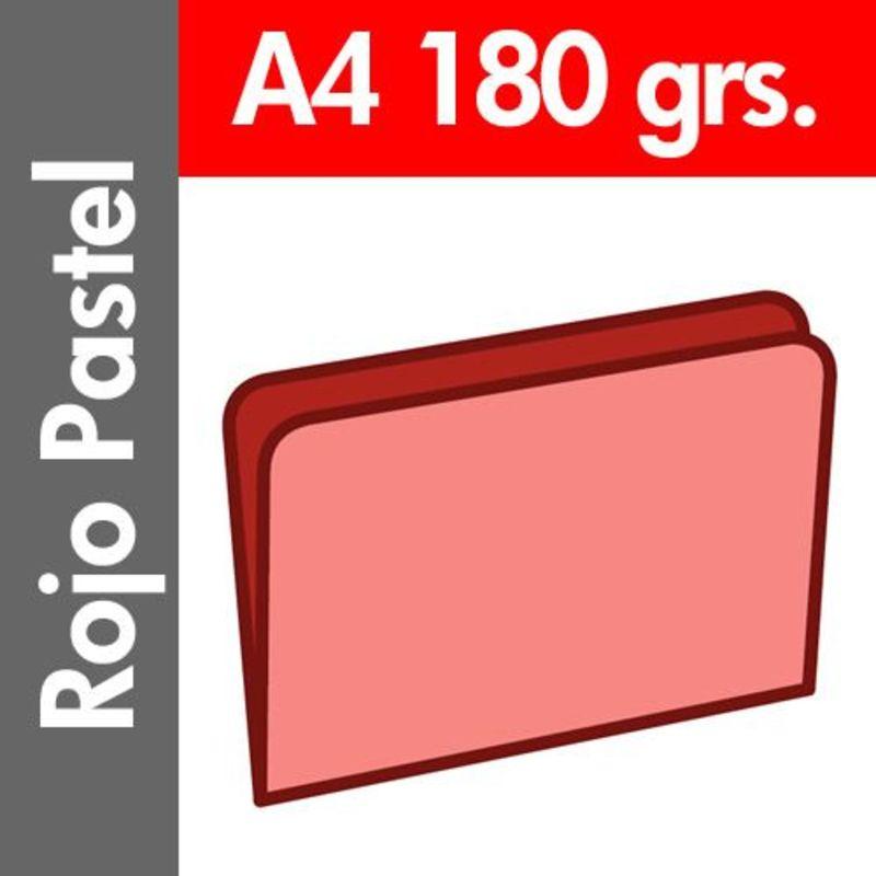 C / 50 SUBCARPETA PASTEL 180 GR / M² DIN A4 ROJO