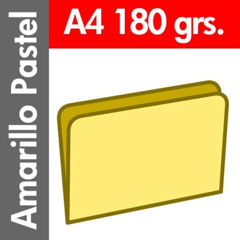 C / 50 SUBCARPETA PASTEL 180 GR / M² DIN A4 AMARILLO