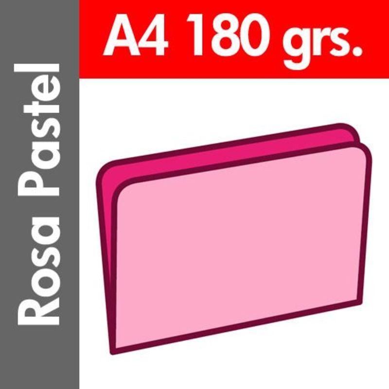 C / 50 SUBCARPETA PASTEL 180 GR / M² DIN A4 ROSA