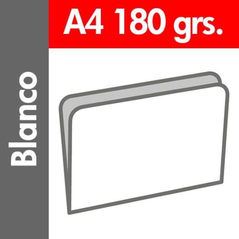 C / 50 SUBCARPETA PASTEL 180 GR / M² DIN A4 BLANCO