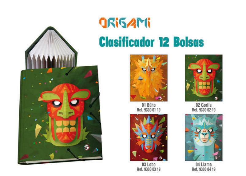 ORIGAMI BUHO * CLASIFICADOR 12 BOLSAS Fº R: 93000119