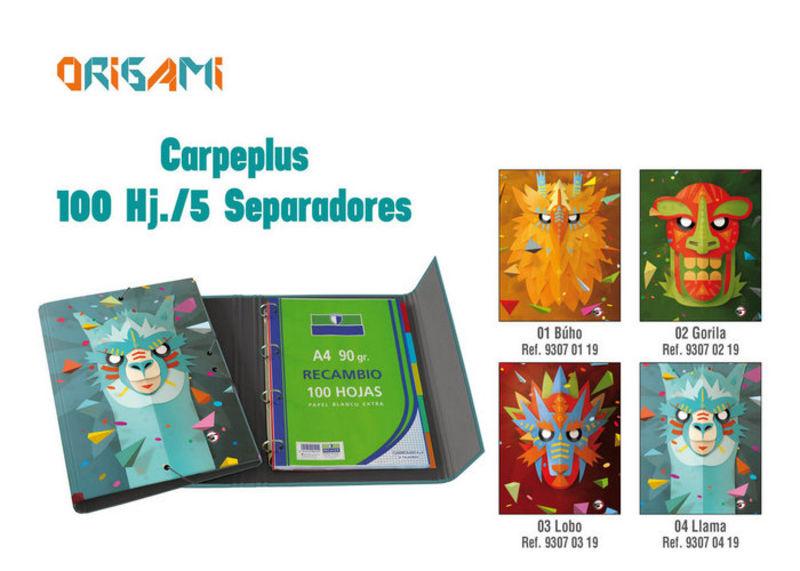 ORIGAMI BUHO * CARPEPLUS 100H 5 SEPARADORES Fº R: 93070119