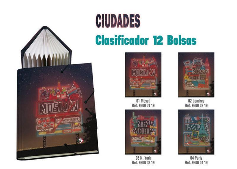 CIUDADES PARIS * CLASIFICADOR 12 BOLSAS Fº R: 98000419
